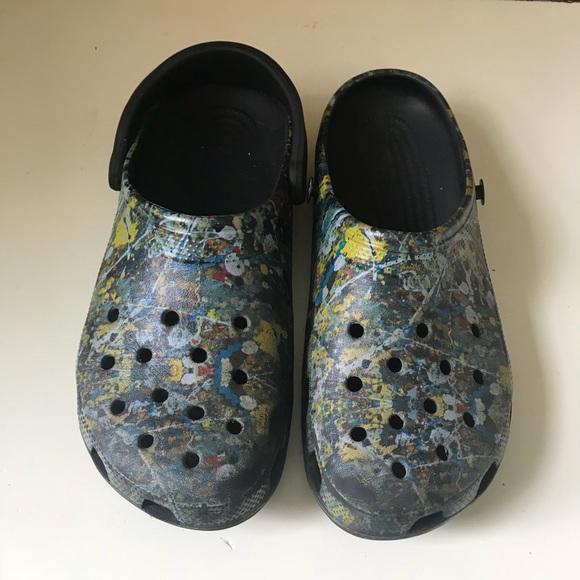 4ad27f9d0f95e7 CROCS Shoes - Rare Jackson Pollock 100th Birthday Crocs